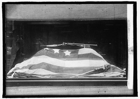 8 x 10 Reprinted Old Photo of Fort Montr[...] Flag. The first to be fired on in Civil War (Museum) 1914 National Photo Co  38a