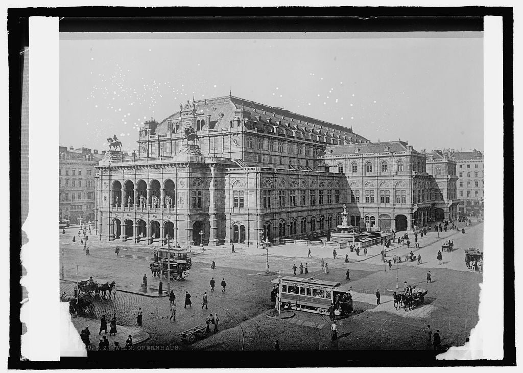 16 x 20 Reprinted Old Photo ofAustria, Vienna. Opera house 1914 National Photo Co  48a