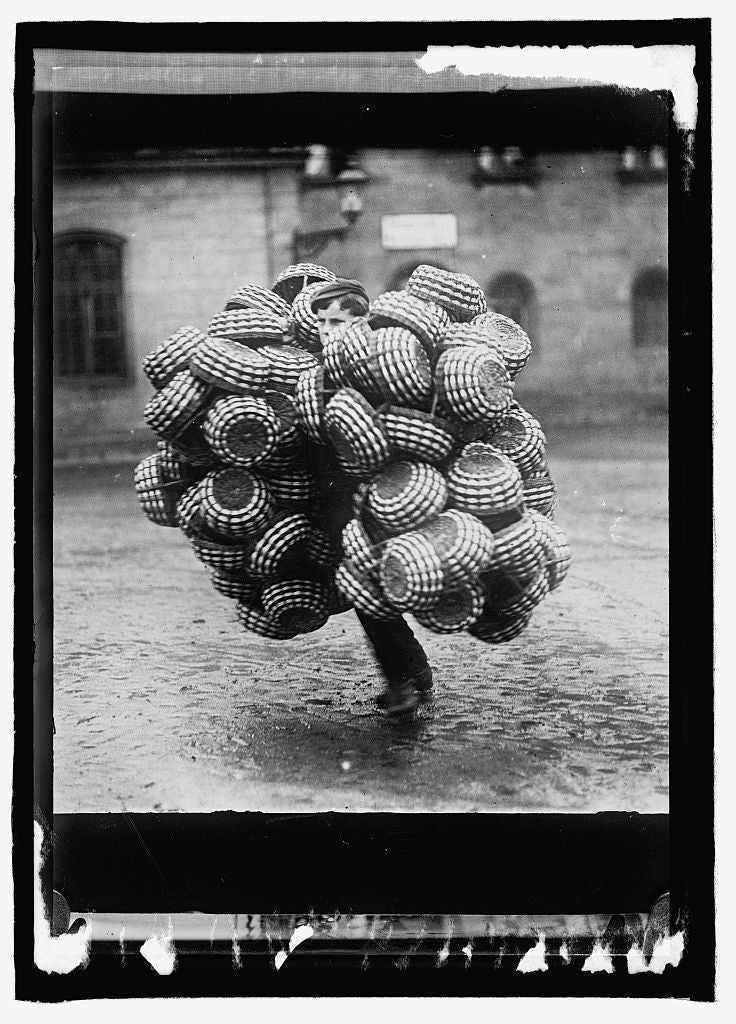 16 x 20 Reprinted Old Photo ofAustria. A basket peddler 1915 National Photo Co  17a