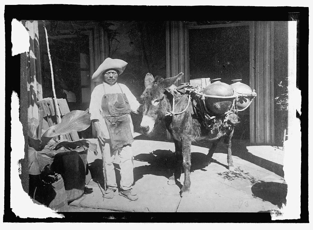 16 x 20 Reprinted Old Photo ofMexico. Water peddler, Oaxaca 1915 National Photo Co  49a