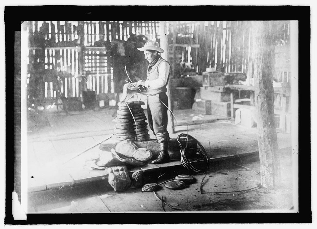 16 x 20 Reprinted Old Photo ofBolivia, a rubber worker 1915 National Photo Co  54a