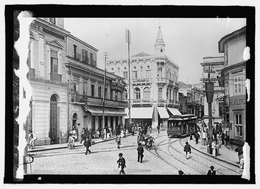 16 x 20 Reprinted Old Photo ofBrazil, Largo de Thesouri, Sao Paolo 1915 National Photo Co  36a