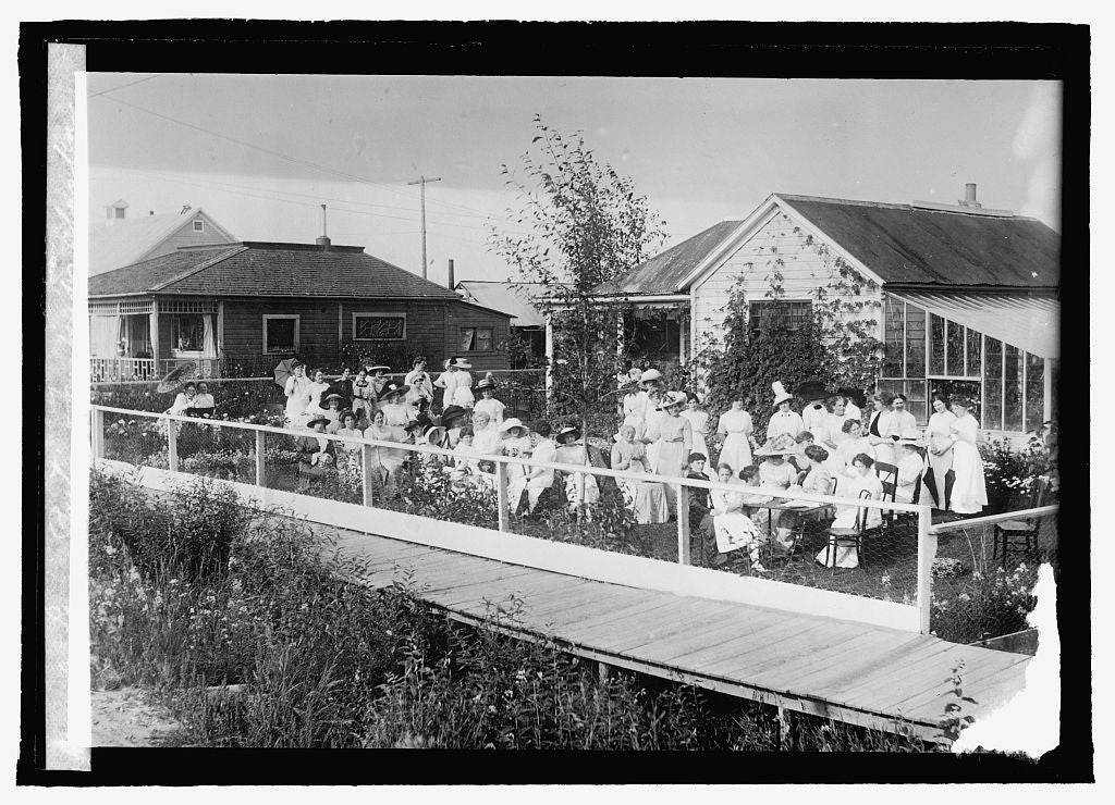 16 x 20 Reprinted Old Photo ofA lawn party, Fairbanks, Alaska 1915 National Photo Co  88a