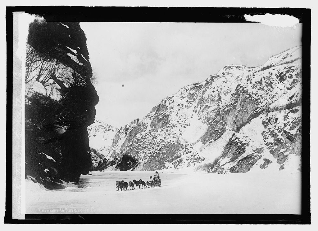 16 x 20 Reprinted Old Photo ofEntrance to Keystone Canyon, Alaska 1915 National Photo Co  93a