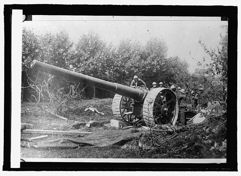 16 x 20 Reprinted Old Photo ofFrench 75 gun 1915 National Photo Co  97a