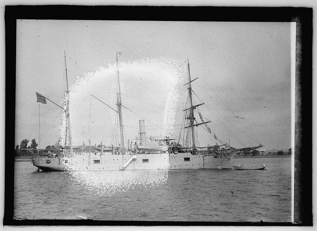 16 x 20 Reprinted Old Photo ofU.S. Ship Nantucket, training ship 1915 National Photo Co  21a