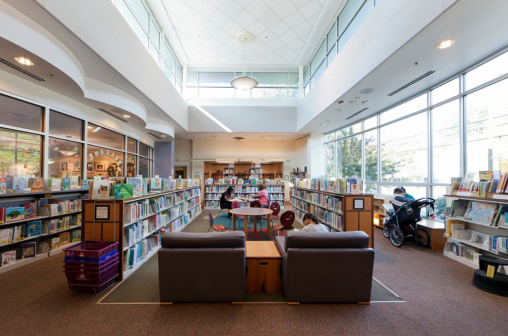 18 x 24 Photograph reprinted on fine art canvas  of Bethesda Library 7400 Arlington Road Bethesda Maryland r26 2011 September by Highsmith, Carol M.,