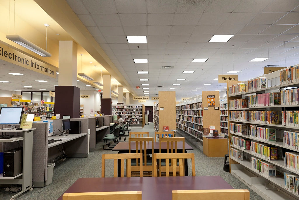 18 x 24 Photograph reprinted on fine art canvas  of Kingstowne Library Alexandria Virginia r88 2011 September by Highsmith, Carol M.,