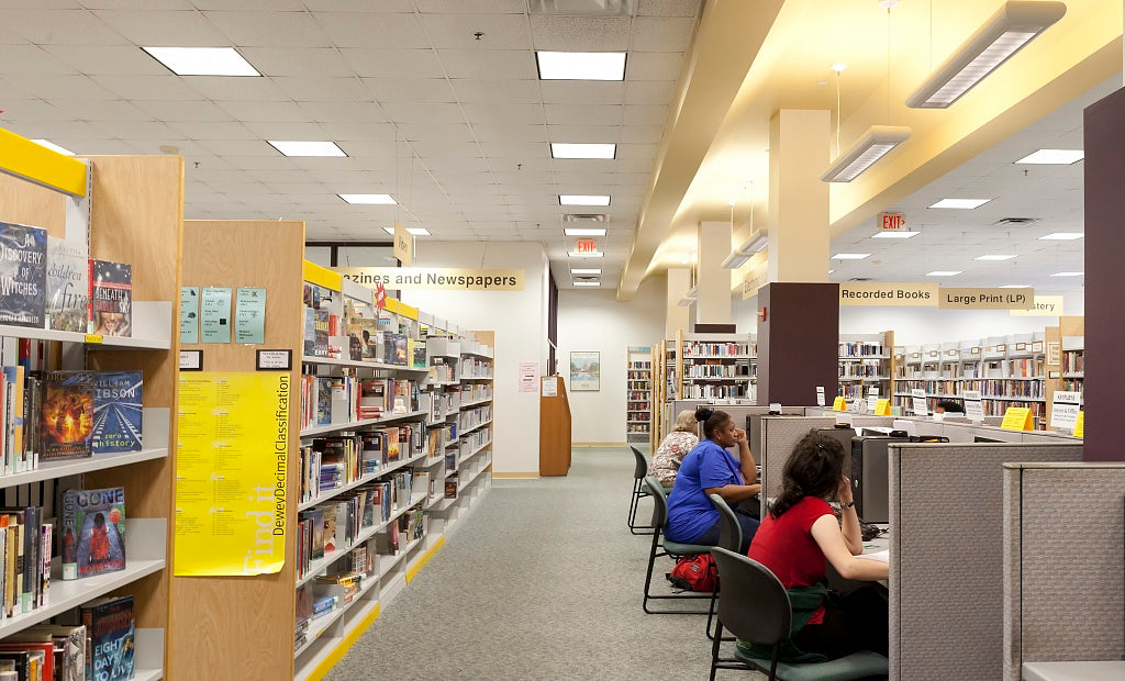 18 x 24 Photograph reprinted on fine art canvas  of Kingstowne Library Alexandria Virginia r89 2011 September by Highsmith, Carol M.,