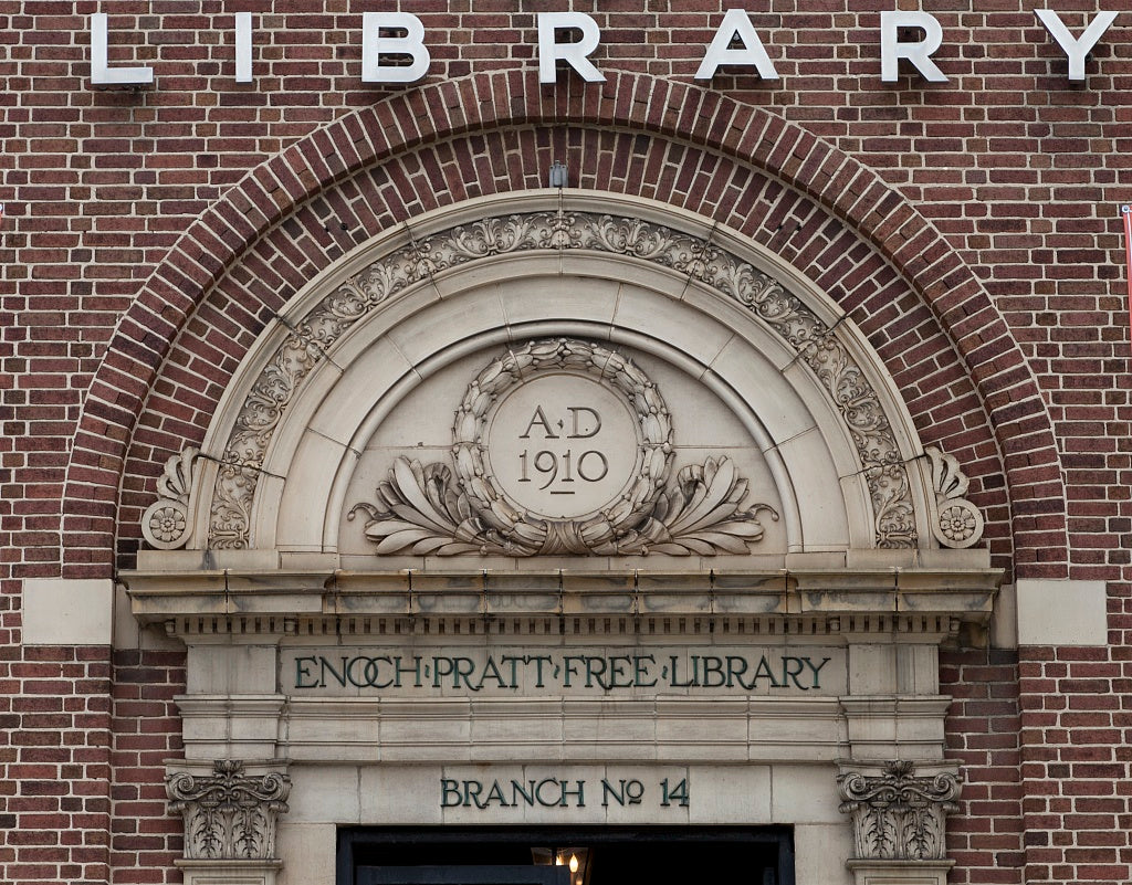 18 x 24 Photograph reprinted on fine art canvas  of Forest Park Branch of the Enoch Pratt Free Library Baltimore Maryland r20 2011 September by Highsmith, Carol M.,