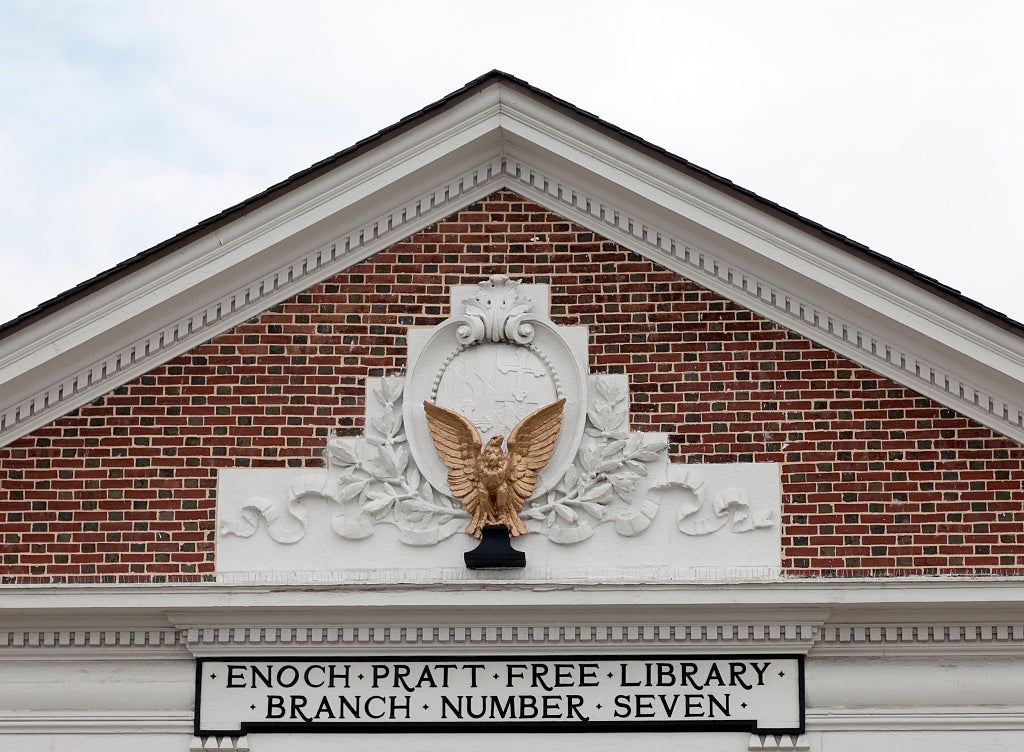 18 x 24 Photograph reprinted on fine art canvas  of Hampden Branch Library Baltimore Maryland r29 2011 October by Highsmith, Carol M.,