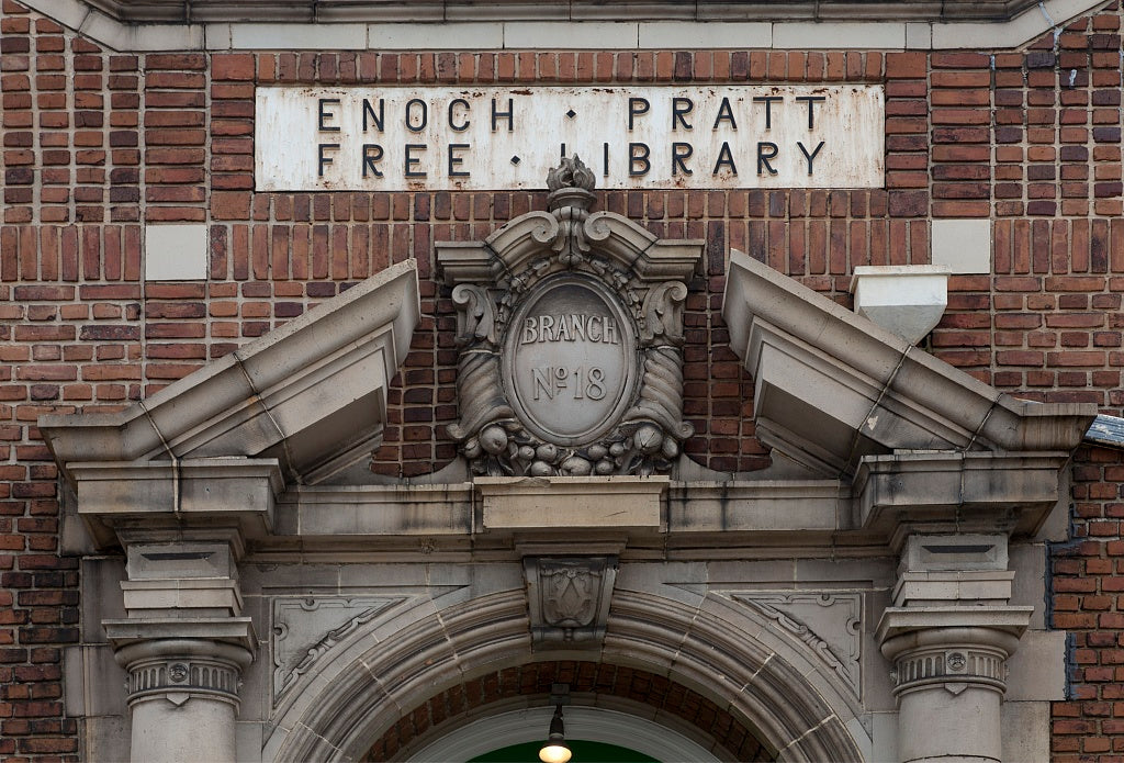 18 x 24 Photograph reprinted on fine art canvas  of Clifton Branch of the Enoch Pratt Library System located on the corner of 20th and Wolfe Streets Baltimore Maryland r32 2011 October by Highsmith, Carol M.,