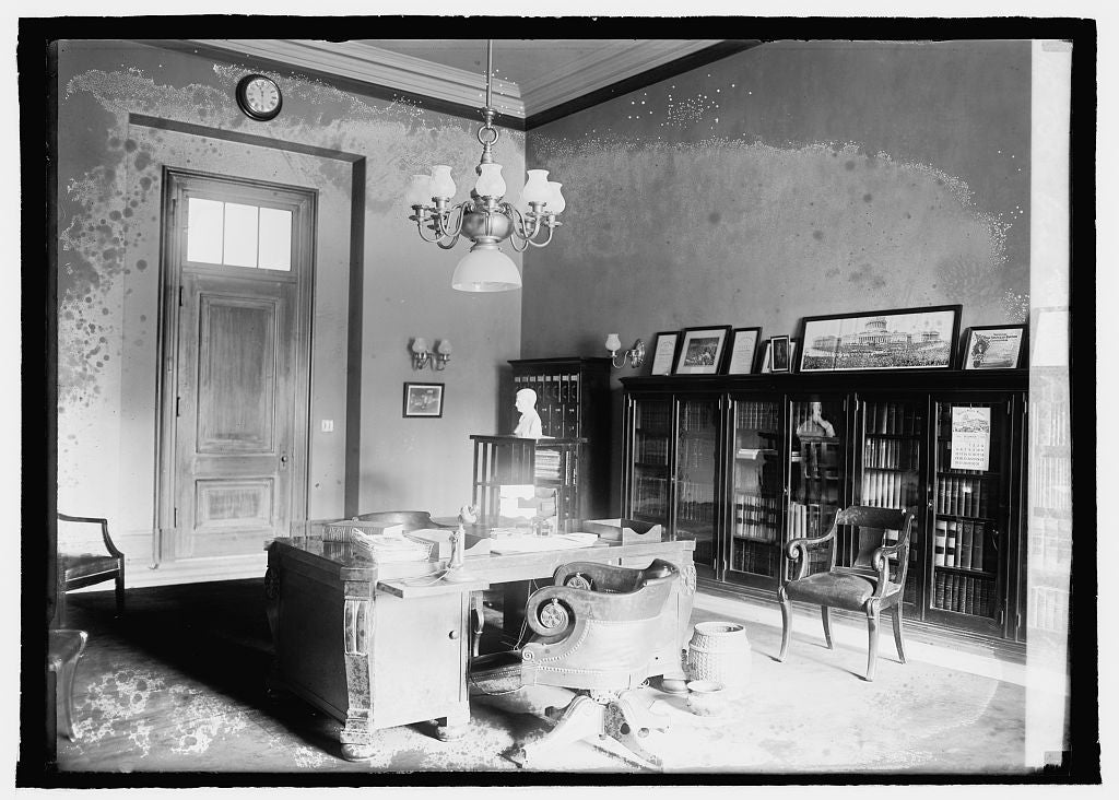 16 x 20 Reprinted Old Photo ofVice Pres. room, Senate Ofc. bldg. 1920 National Photo Co  35a
