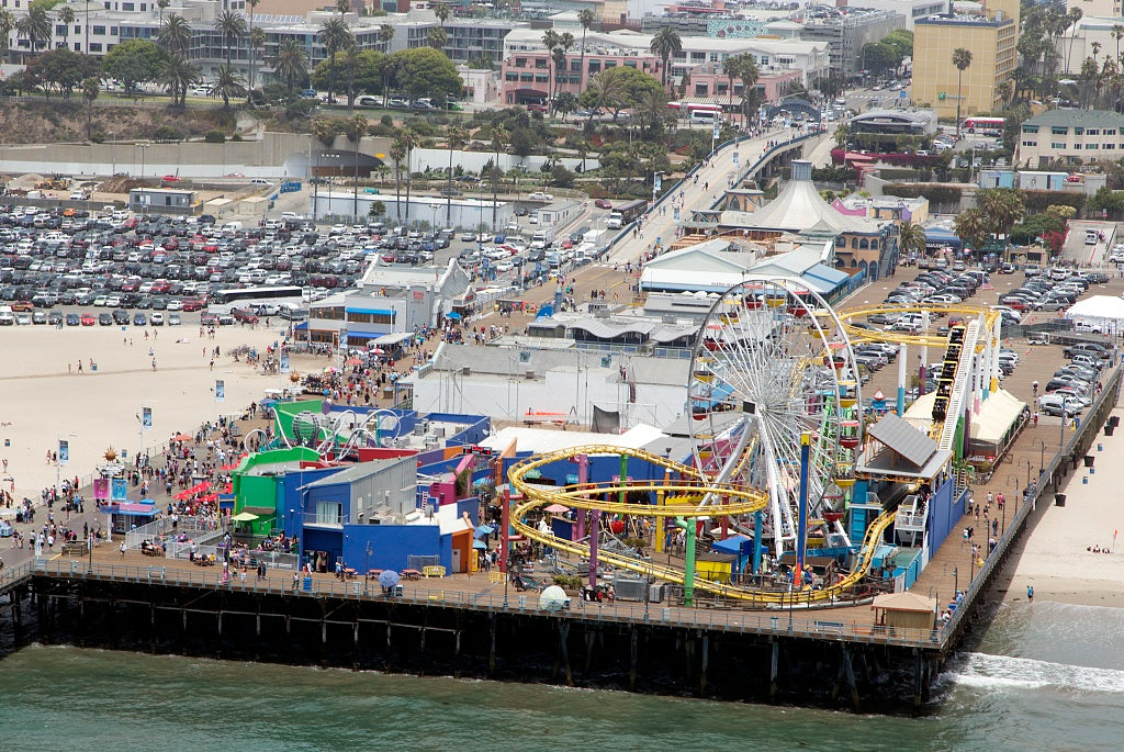 18 x 24 Photograph reprinted on fine art canvas  of Aerial view of Santa Monica Pier Santa Monica California r86 2012 by Highsmith, Carol M.