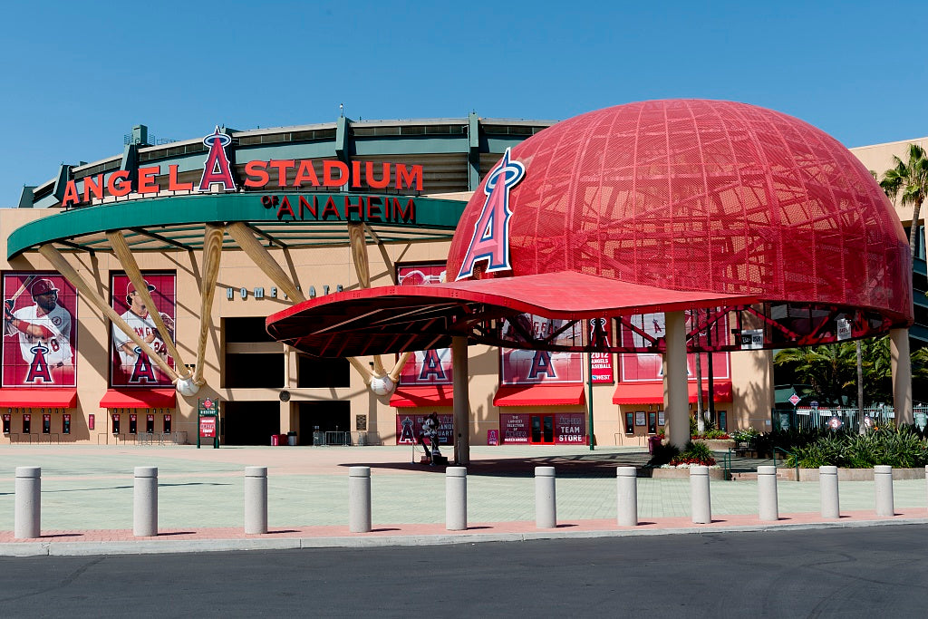 18 x 24 Photograph reprinted on fine art canvas  of Angel Stadium of Anaheim California r91 2012 by Highsmith, Carol M.