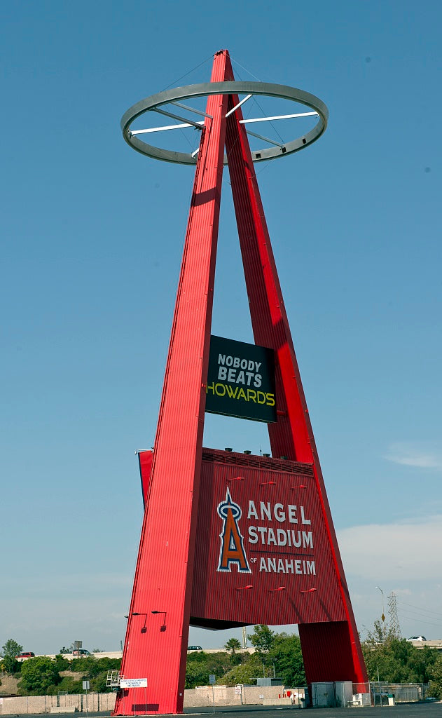 18 x 24 Photograph reprinted on fine art canvas  of Angel Stadium of Anaheim California r92 2012 by Highsmith, Carol M.