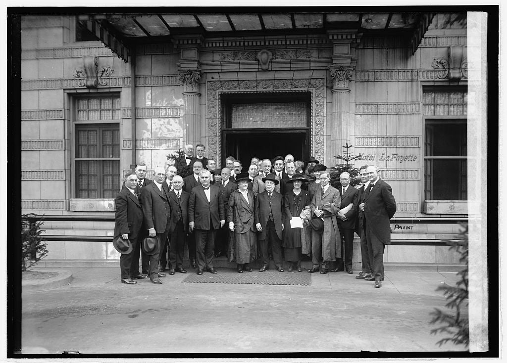16 x 20 Reprinted Old Photo of Gompers group, 10/17/21 1921 National Photo Co  88a