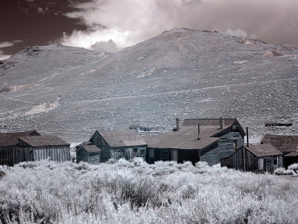 18 x 24 Photograph reprinted on fine art canvas  of Bodie is a ghost town in the Bodie Hills east of the Sierra Nevada mountain range in Mono County California r98 2012 by Highsmith, Carol M.