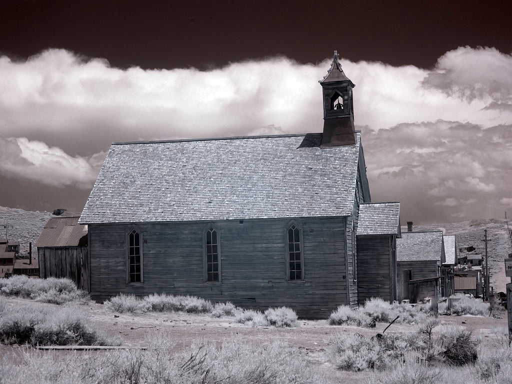 18 x 24 Photograph reprinted on fine art canvas  of Bodie is a ghost town in the Bodie Hills east of the Sierra Nevada mountain range in Mono County California r01 2012 by Highsmith, Carol M.