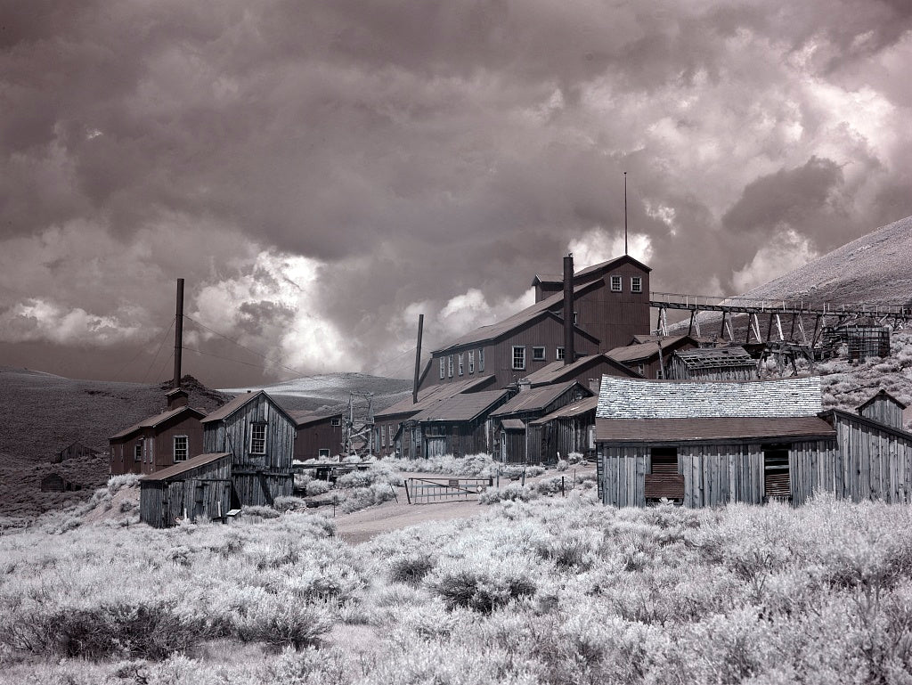 18 x 24 Photograph reprinted on fine art canvas  of Bodie is a ghost town in the Bodie Hills east of the Sierra Nevada mountain range in Mono County California r08 2012 by Highsmith, Carol M.