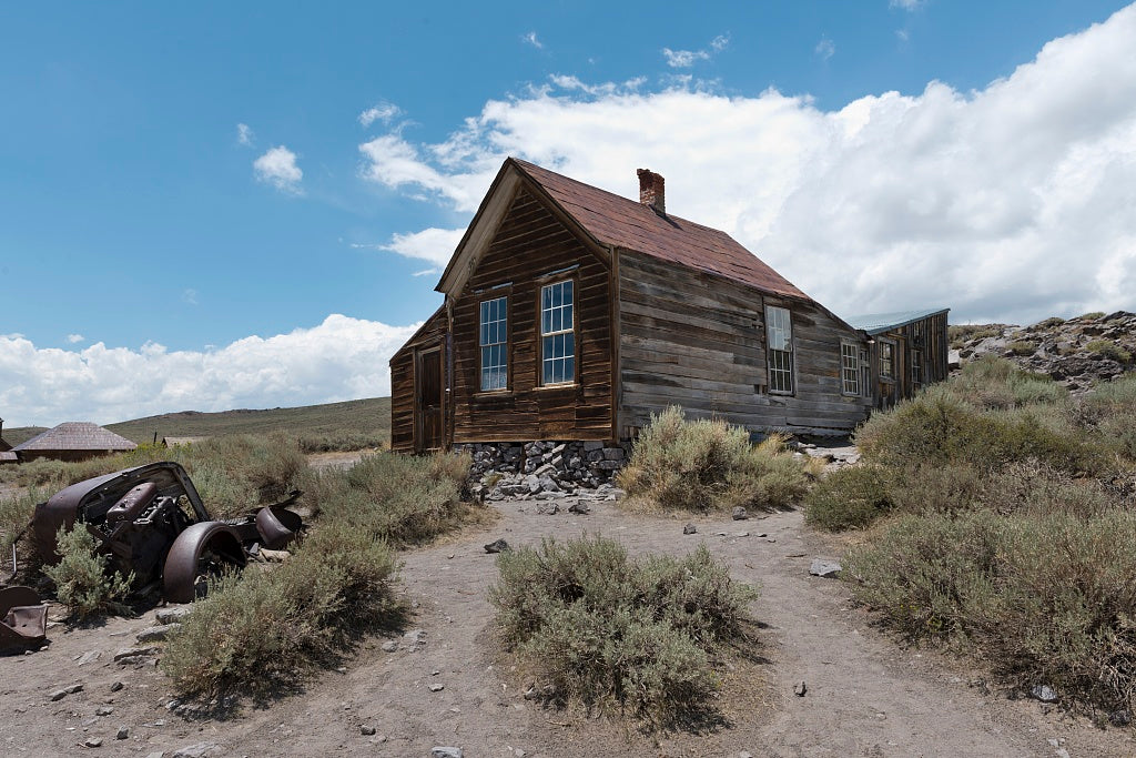 18 x 24 Photograph reprinted on fine art canvas  of Bodie is a ghost town in the Bodie Hills east of the Sierra Nevada mountain range in Mono County California r92 2012 by Highsmith, Carol M.