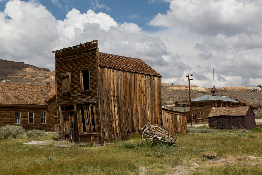 18 x 24 Photograph reprinted on fine art canvas  of Bodie is a ghost town in the Bodie Hills east of the Sierra Nevada mountain range in Mono County California r69 2012 by Highsmith, Carol M.
