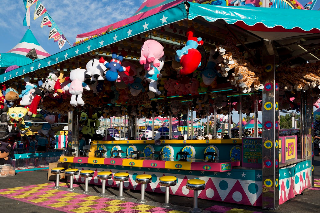 18 x 24 Photograph reprinted on fine art canvas  of Arcade game at the 2012 California State Fair held in Sacramento California r08 2012 by Highsmith, Carol M.