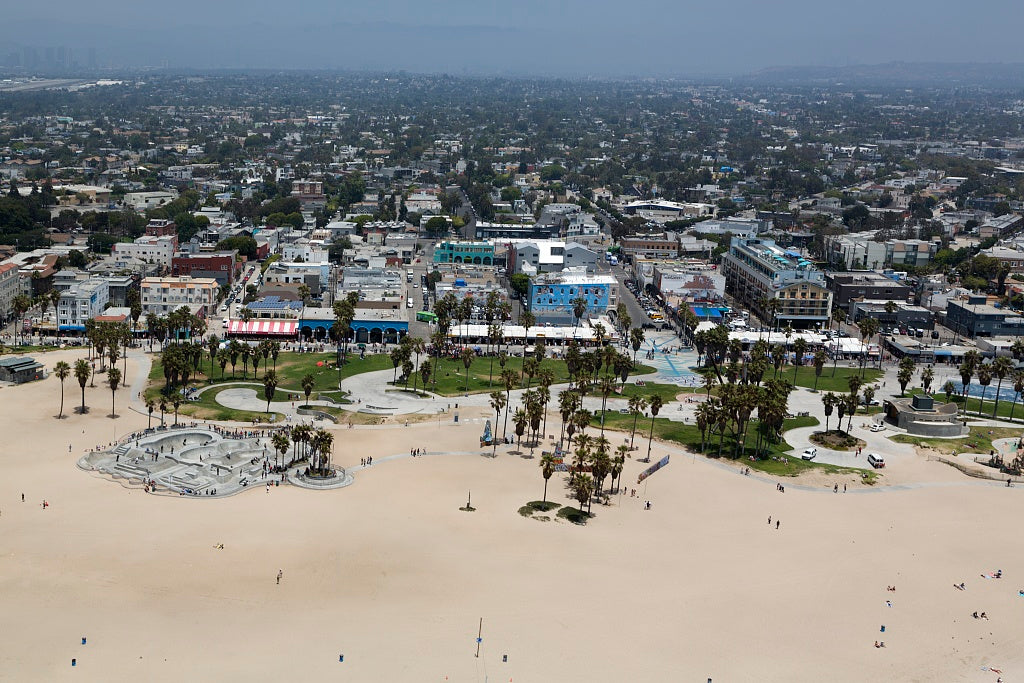 18 x 24 Photograph reprinted on fine art canvas  of Aerial view of Venice Beach California r36 2012 by Highsmith, Carol M.