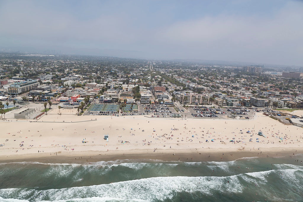 18 x 24 Photograph reprinted on fine art canvas  of Aerial view of Venice Beach California r38 2012 by Highsmith, Carol M.
