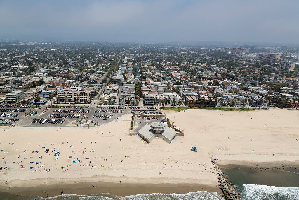 18 x 24 Photograph reprinted on fine art canvas  of Aerial view of Venice Beach California r39 2012 by Highsmith, Carol M.