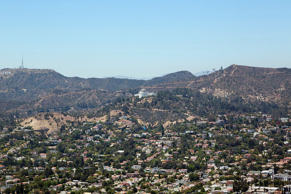 18 x 24 Photograph reprinted on fine art canvas  of Aerial view of Griffith Observatory Los Angeles California r66 2012 by Highsmith, Carol M.