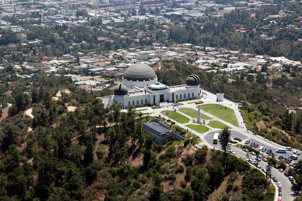 18 x 24 Photograph reprinted on fine art canvas  of Aerial view of Griffith Observatory Los Angeles California r69 2012 by Highsmith, Carol M.