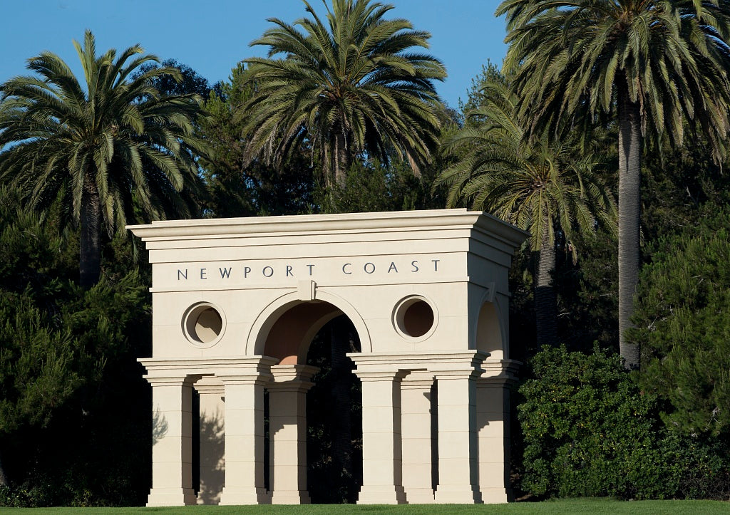 18 x 24 Photograph reprinted on fine art canvas  of Architectural detail along the Newport Beach coast in California r04 2012 by Highsmith, Carol M.
