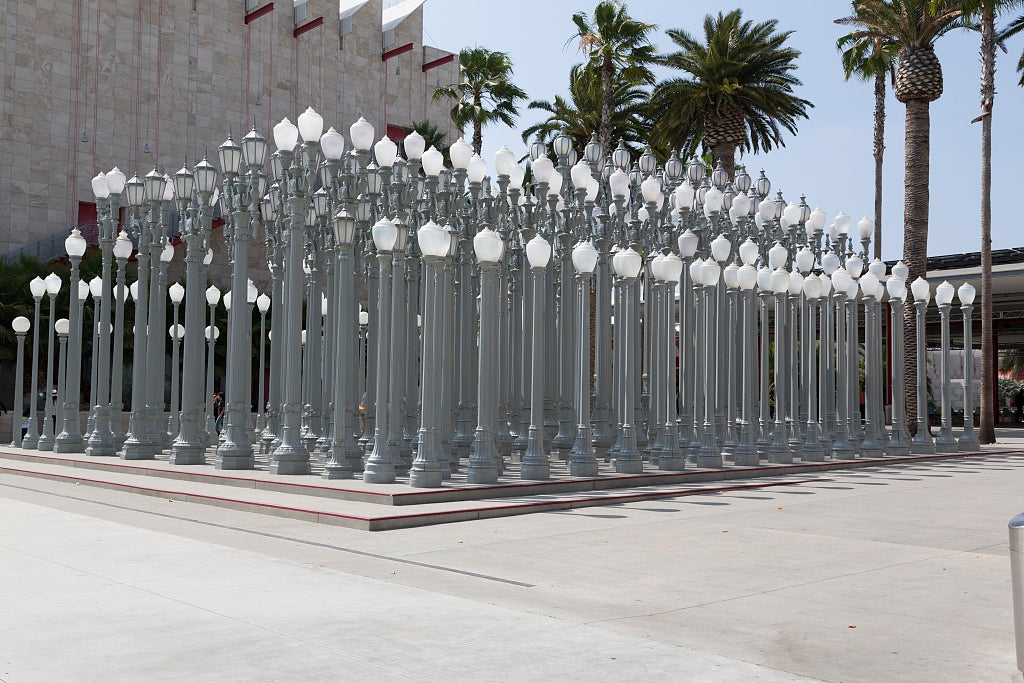 18 x 24 Photograph reprinted on fine art canvas  of Urban Light sculpture by Chris Burden at the Los Angeles County Museum of Art in California r53 2012 by Highsmith, Carol M.