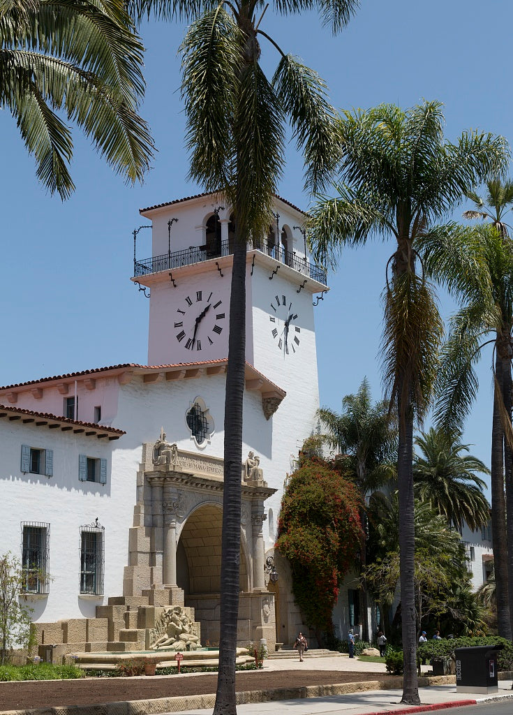 18 x 24 Photograph reprinted on fine art canvas  of The Santa Barbara County Courthouse is located at 1100 Anacapa Street in downtown Santa Barbara California r75 2012 by Highsmith, Carol M.