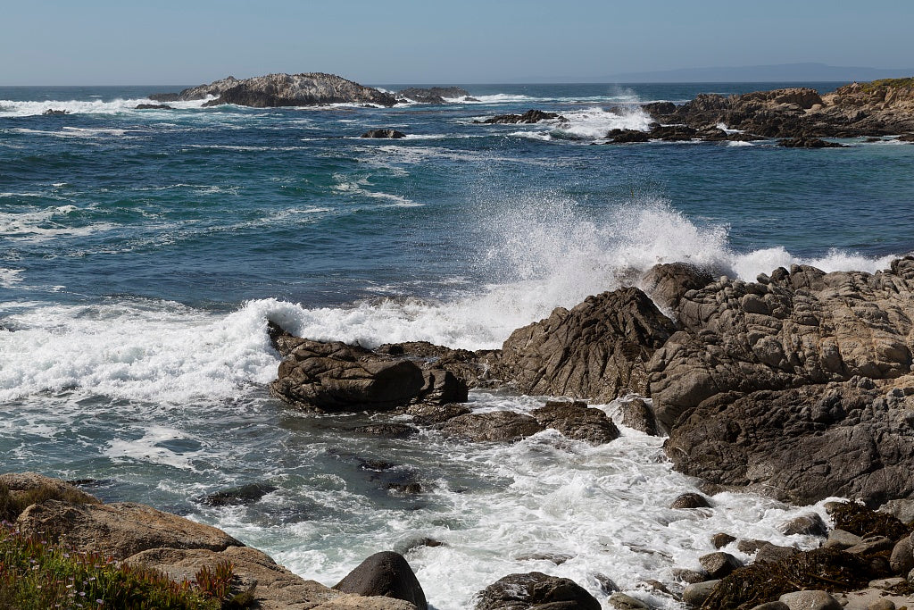 18 x 24 Photograph reprinted on fine art canvas  of View of Pacific ocean along 17-Mile Drive a scenic road through Pacific Grove and Pebble Beach on the Monterey Peninsula in California r94 2012 by Highsmith, Carol M.
