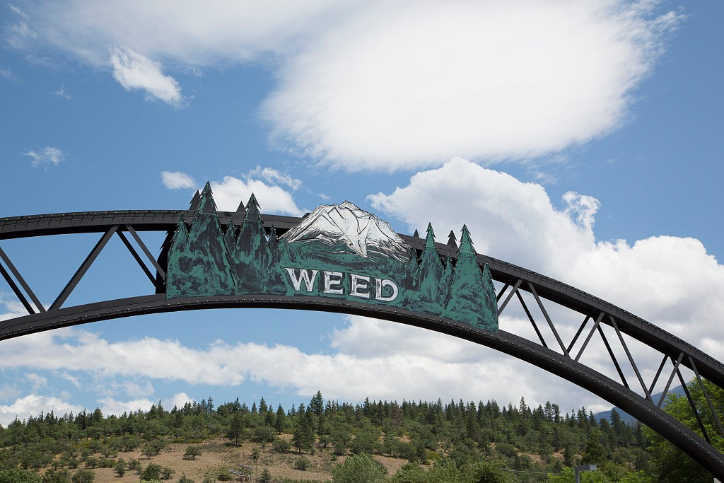 18 x 24 Photograph reprinted on fine art canvas  of Entrance to Weed California near Mount Shasta r19 2012 by Highsmith, Carol M.