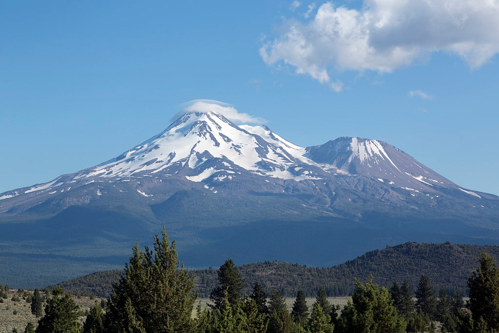 18 x 24 Photograph reprinted on fine art canvas  of Mount Shasta located at the southern end of the Cascade Range in Siskiyou County California r31 2012 by Highsmith, Carol M.