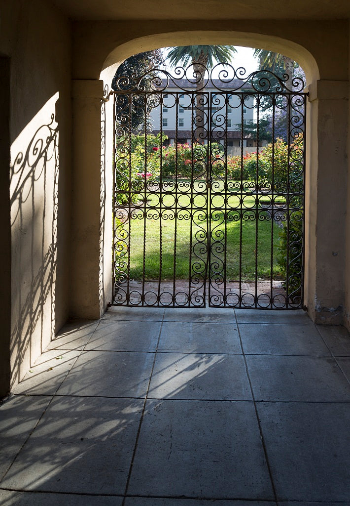 18 x 24 Photograph reprinted on fine art canvas  of Iron gate at Mission Santa Clara de As's Santa Clara California r34 2012 by Highsmith, Carol M.