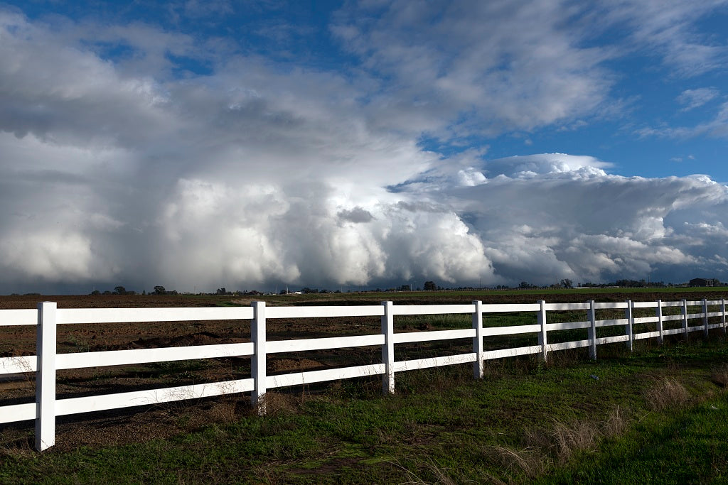 18 x 24 Photograph reprinted on fine art canvas  of Complex clouds form after many inches of rain over several days near Stockton California r31 2012 by Highsmith, Carol M.