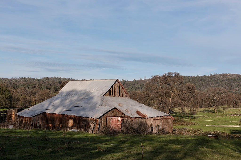 18 x 24 Photograph reprinted on fine art canvas  of An extensive barn in Butte County California east of Oroville r52 2012 by Highsmith, Carol M.