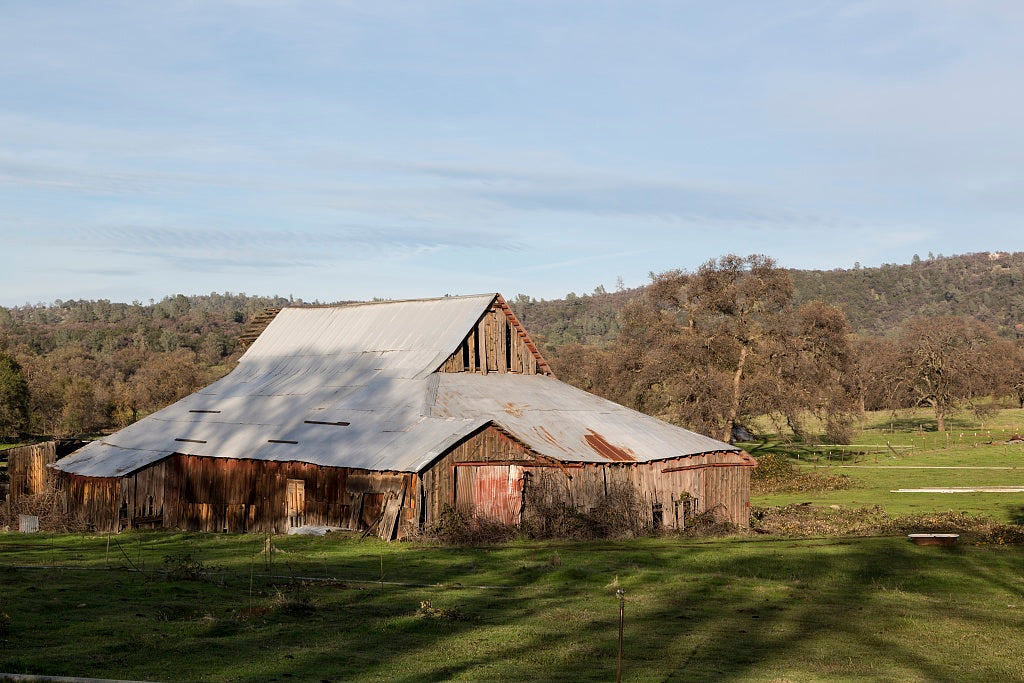 18 x 24 Photograph reprinted on fine art canvas  of A sizable barn near the settlement of Bangor south of Oroville in Butte County California r47 2012 by Highsmith, Carol M.