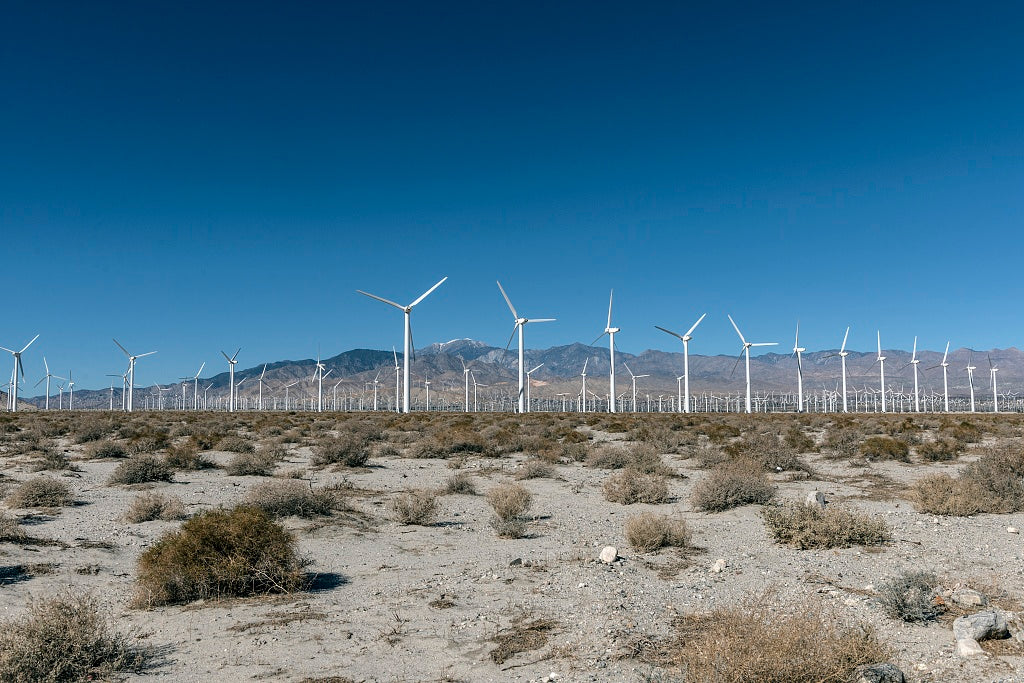 18 x 24 Photograph reprinted on fine art canvas  of Wind turbine farm outside Cabazon west of Palm Springs California r28 2013 by Highsmith, Carol M.