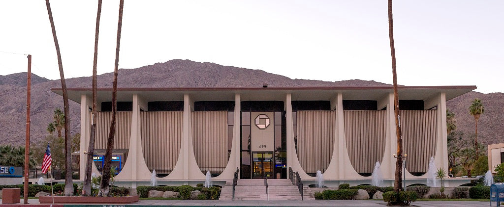 18 x 24 Photograph reprinted on fine art canvas  of The Coachella Valley Savings and Loan No. 3 building Palm Springs California r76 2013 by Highsmith, Carol M.