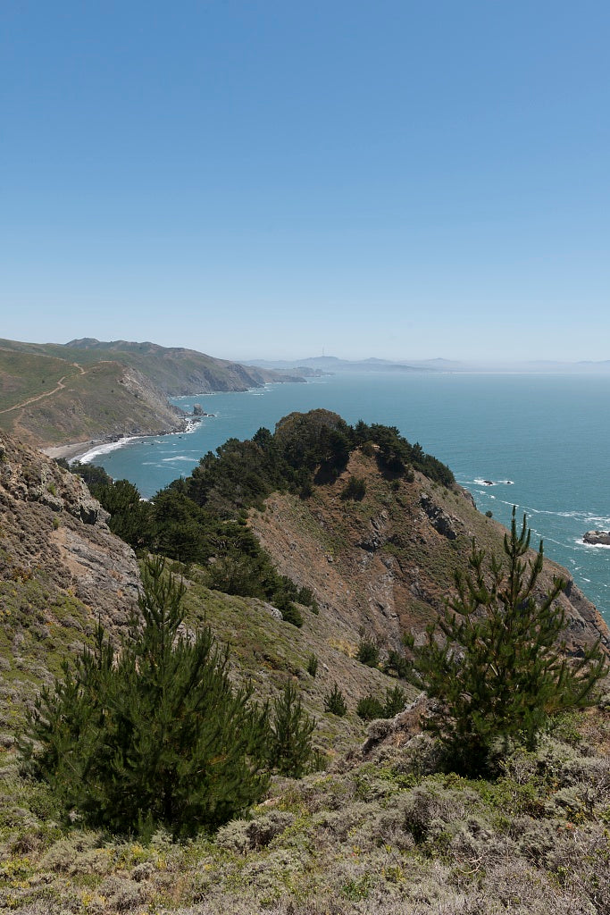18 x 24 Photograph reprinted on fine art canvas  of View of coast from Muir Beach overlook in Muir Beach California r59 2013 May by Highsmith, Carol M.,