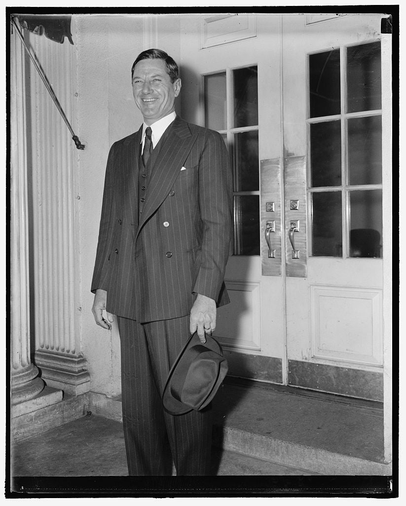 8 x 10 Reprinted Old Photo of Governor - Elect Of South Carolina. Washington, D.C., Nov. 12. Governor-Elect Of South Carolina, Burnet R. Maybank, Was A White House Caller Today 1938 Harris & Ewing 64a