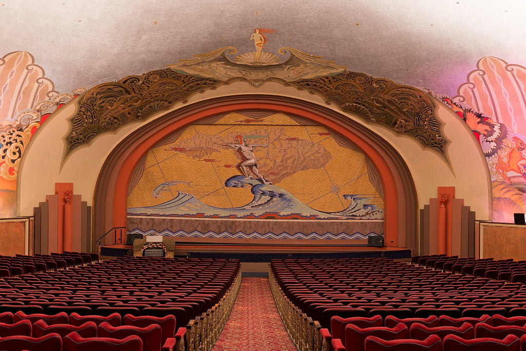 18 x 24 Photograph reprinted on fine art canvas  of Avalon theater located at the Catalina Casino built on the site formerly known as Sugarloaf Point on Catalina Island off the coast of California r84 2013 May by Highsmith,