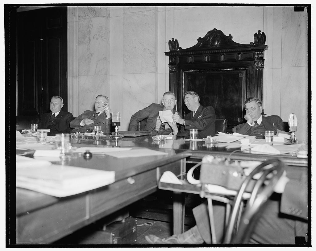 8 x 10 Reprinted Old Photo of Congressional Tva Committee. Washington, D.C., Nov. 23. Members Of The Joint Congressional Committee Investigating Tennessee Valley Authority Now  1938 Harris & Ewing 40a