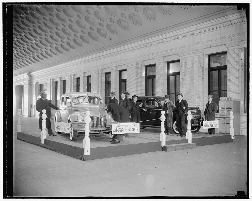 8 x 10 Reprinted Old Photo of Ford Motor Co., Union Station 1938 Harris & Ewing 50a