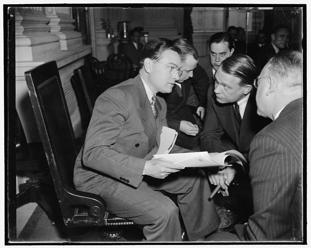 8 x 10 Reprinted Old Photo of Uawu Head Quizzed By Rep. Dies. Washington, D.C., Dec. 1. Homer Martin, Left, President Of The Automobile Workers Union, As He Was Quizzed Today B 1938 Harris & Ewing 87a
